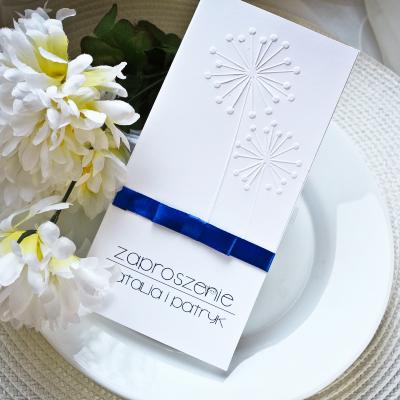 białe zaproszenia slubne