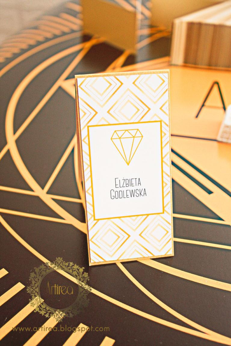 złoto biała winietka elegancka art deco great gatsby artirea