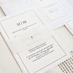 białe minimalistyczne zaproszenia slubne