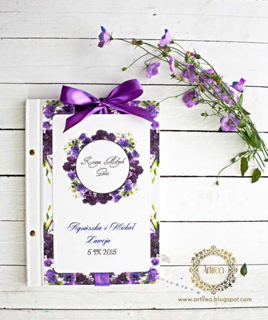 fioletowa skiega gosci kwiaty artirea