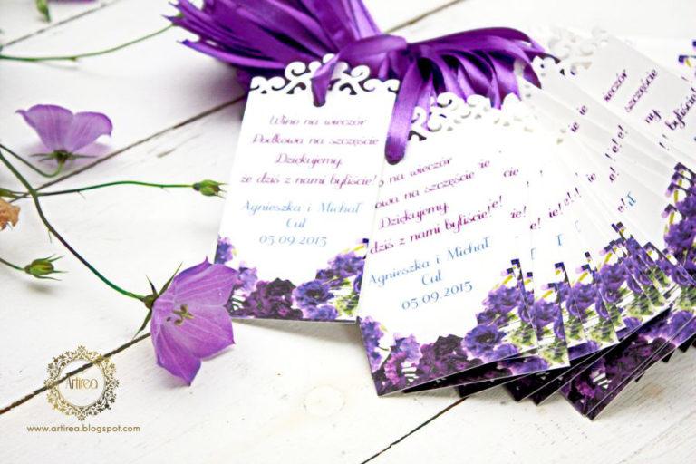 zfioletowe zawieszki na alkohol kwiatowe artirea