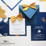 niebieskie zaproszenia slubne