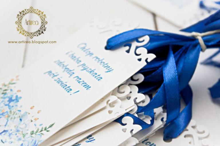 niebieskie zawieszki na alkohol niebieska hortensja artirea