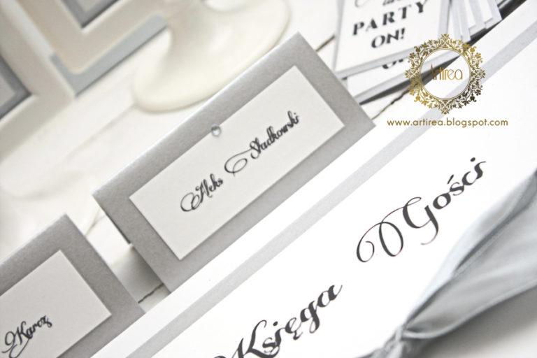 srebrno biala elegancka winietka z cyrkonia artirea