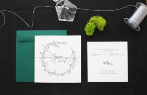 botaniczne zaproszenia slubne