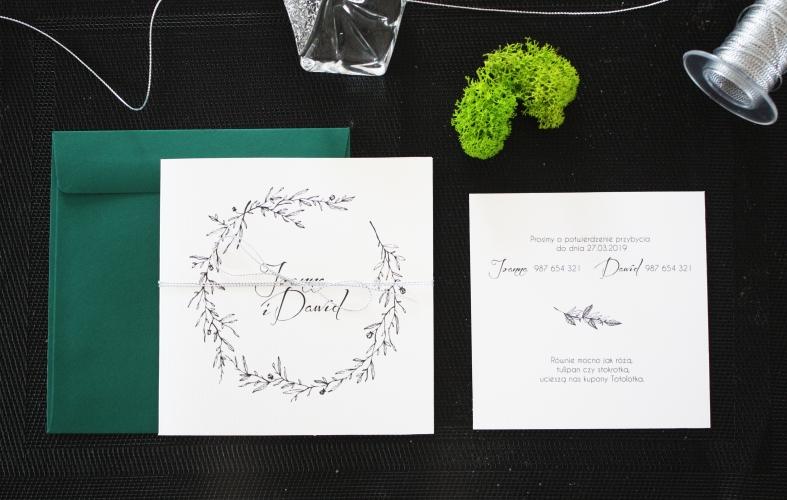 minimalistyczne zaproszenia slubne