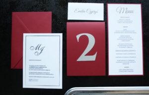 bordowo srebrne eleganckie jednokartkowe zaprosznia slubne artirea1 (1)