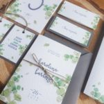 botaniczne proste zaproszenia slubne eukaliptus rustykalne artirea