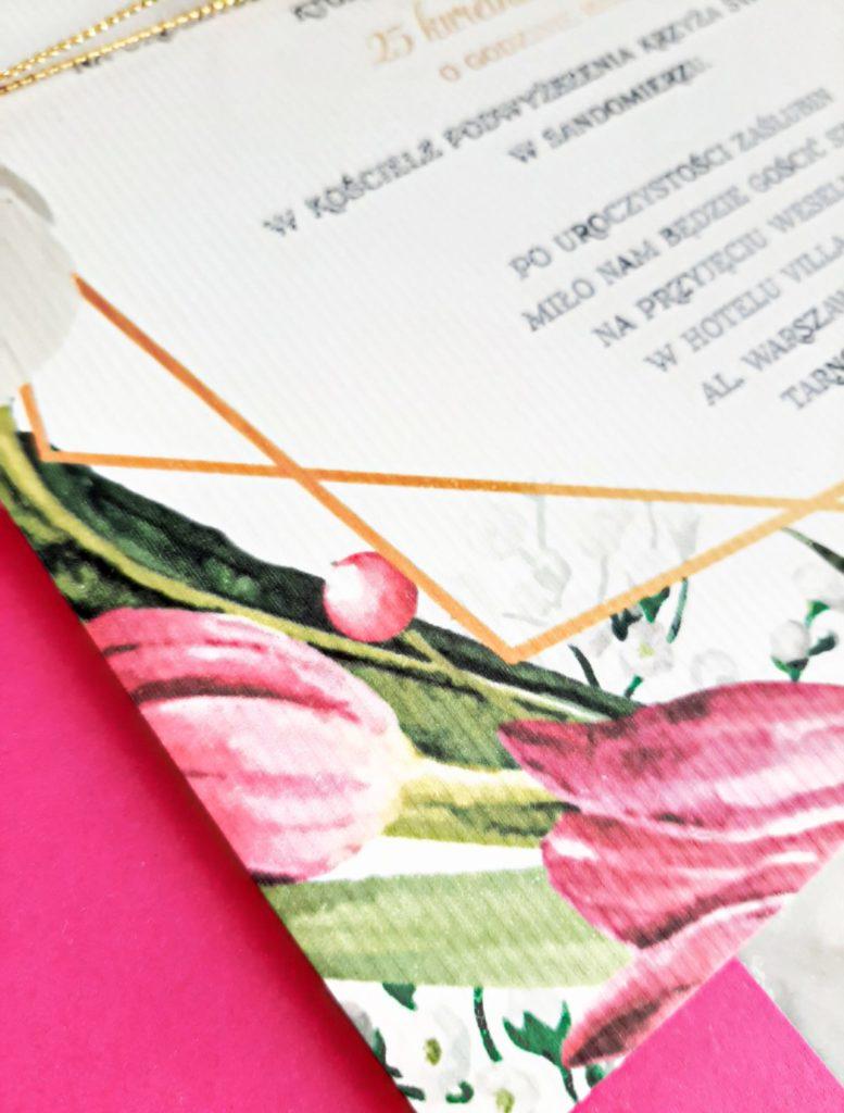 zaproszenia slubne tulipany