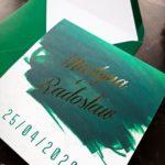 zielone zaproszenia slubne szmaragdowe zaproszenia slubne zaproszenia slubne zielen zloto