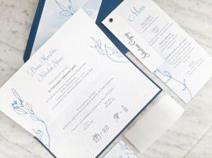delikatne niebieskie zaproszenia slubne nowoczesne zaproszenia slubne grantowe zaproszenia