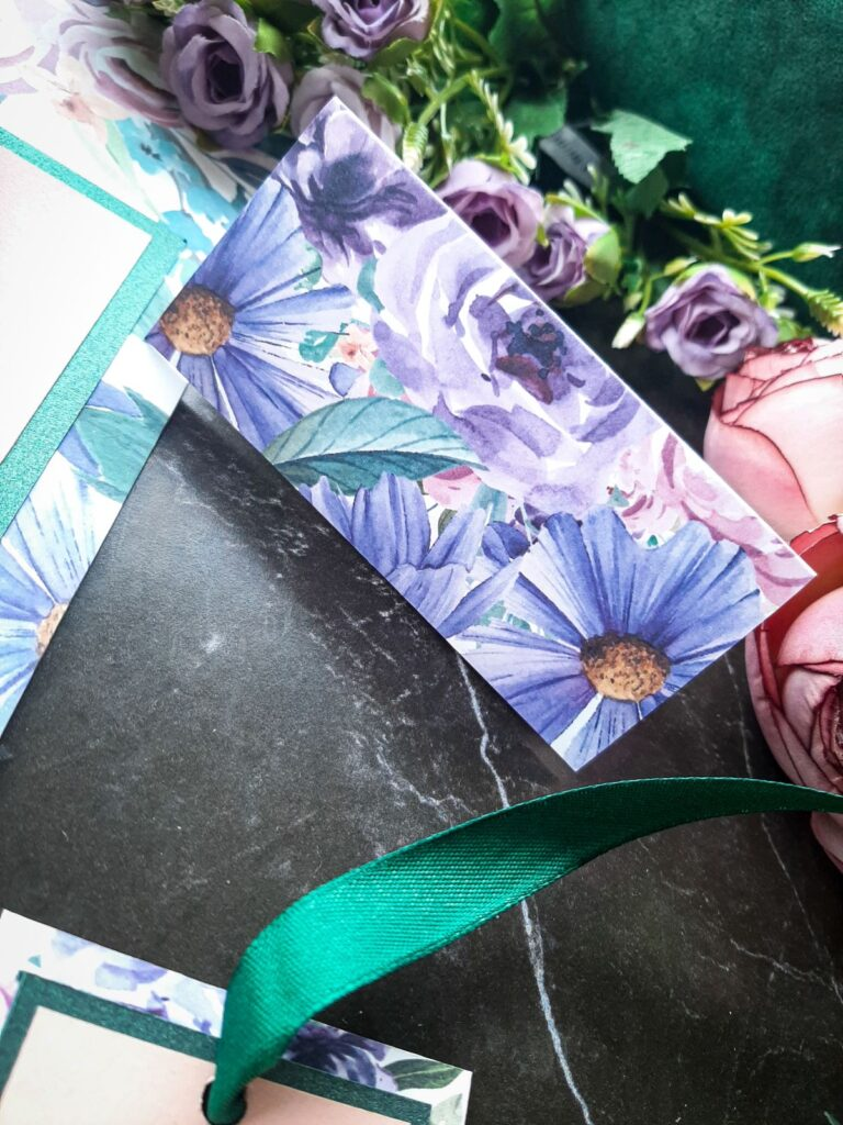zaproszenia slubne fioletowe